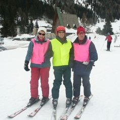 Guides and skier.